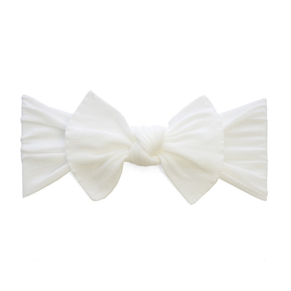 Baby Bling Bow Knot Headband In White Shop Soft