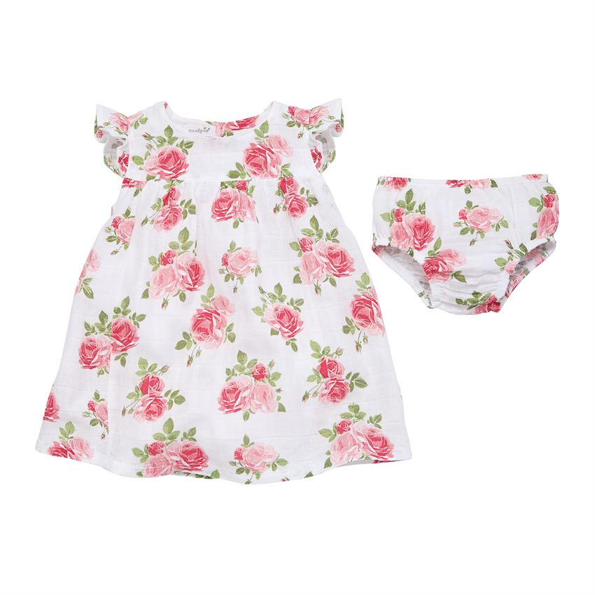 0ea936f77f68 Home > Clothing & Accessories > Trendy Girl Outfits > Mud Pie Muslin Rose  Dress
