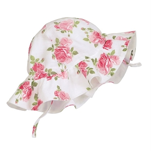 Mud Pie Muslin Rose Sun Hat