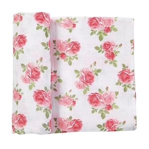 Mud Pie Muslin Rose Swaddle