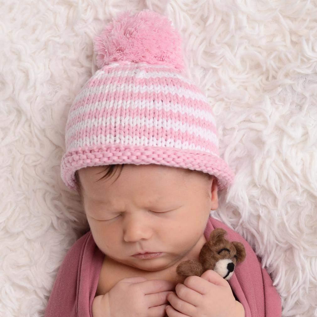 8609aa1ab Huggalugs Newborn Pom Pom Hat