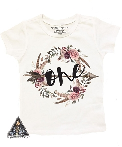 Boho Floral First Birthday Tee