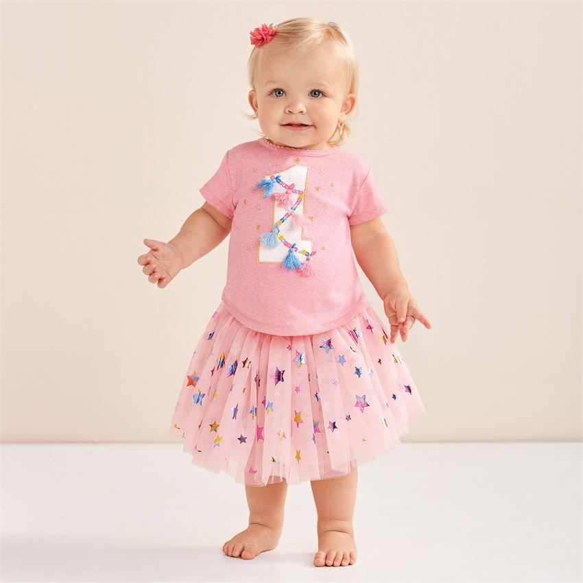 Home Clothing Accessories Specialty Mud Pie One Birthday Skirt Set