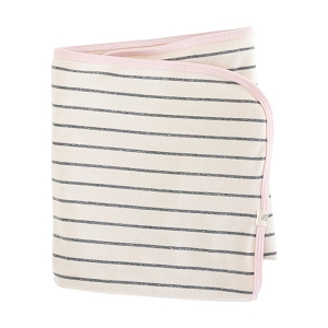 Petal Pink and Woven Striped Blanket