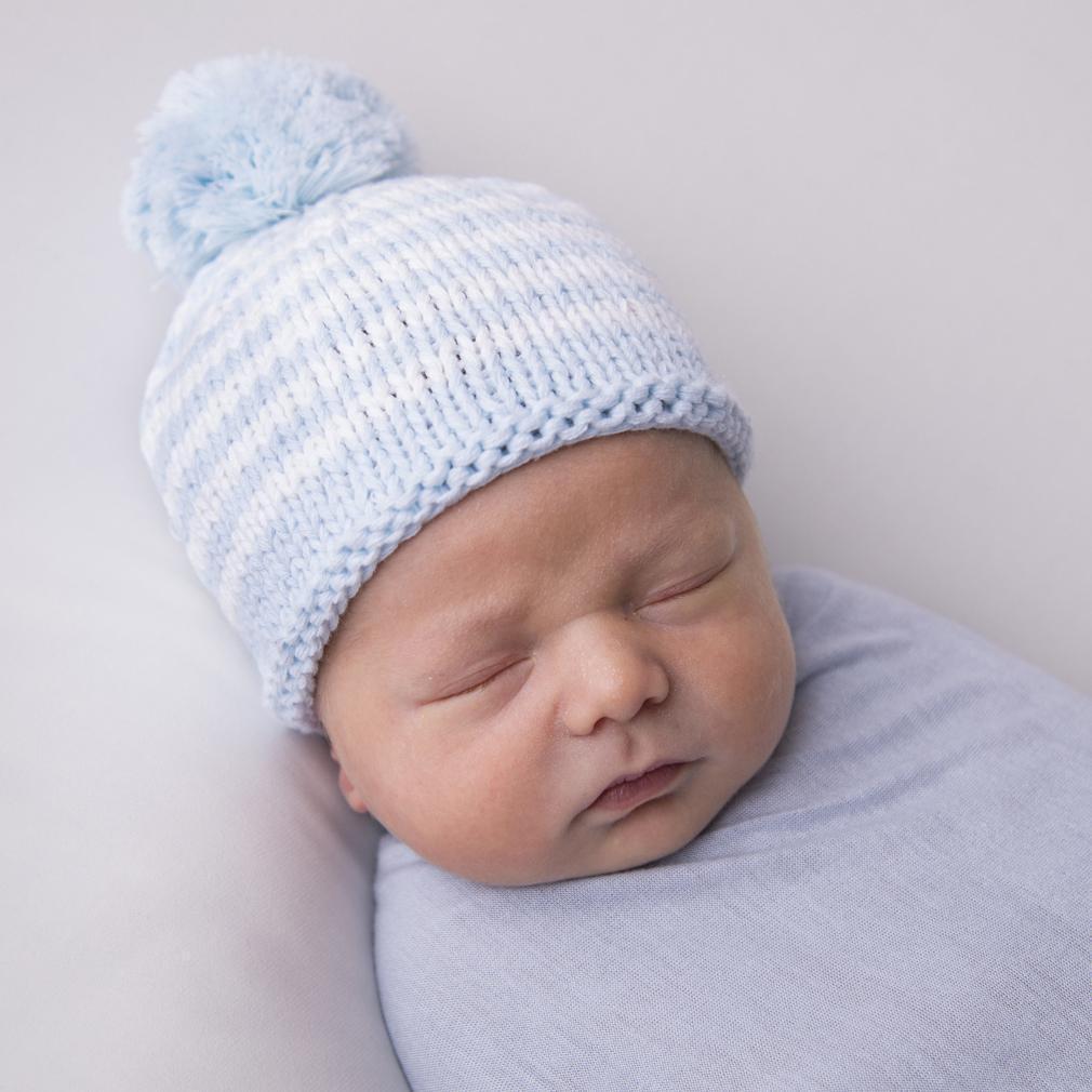 Pom-Pom Newborn Beanie