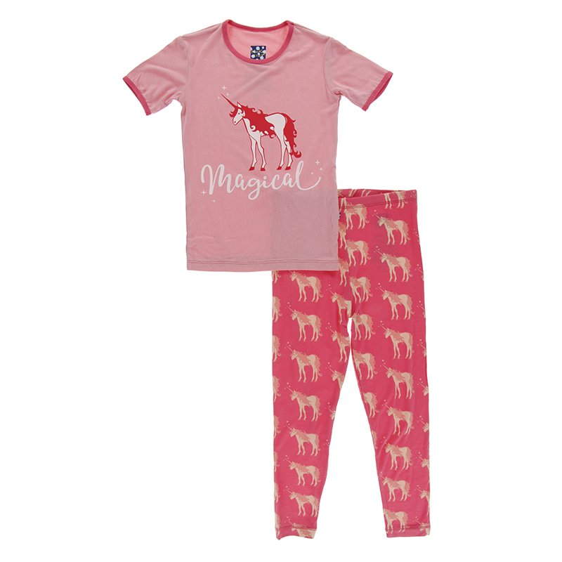 KicKee Pants Pajama Set - Red Ginger Unicorn