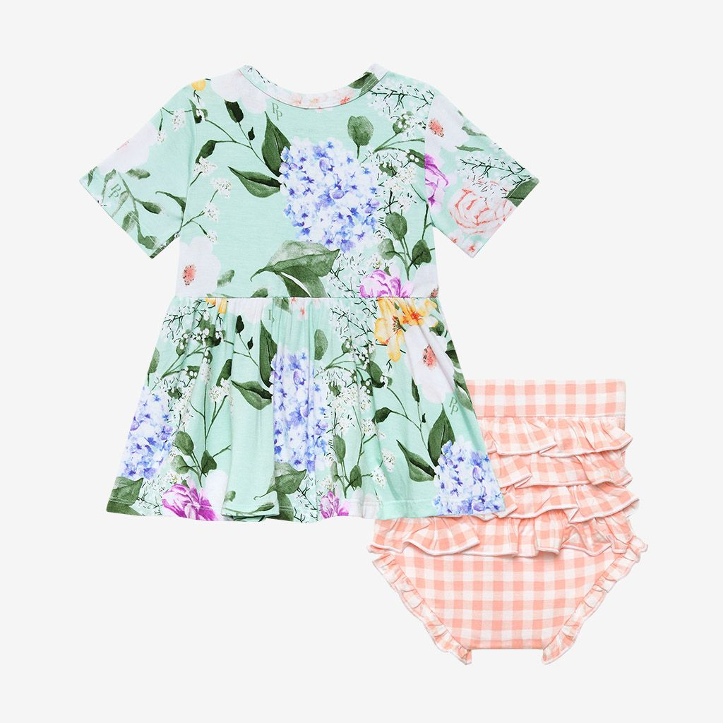 Posh Peanut Erin Peplum Top & Bloomer Set