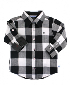 RuggedButts Plaid Button Down - Black & White
