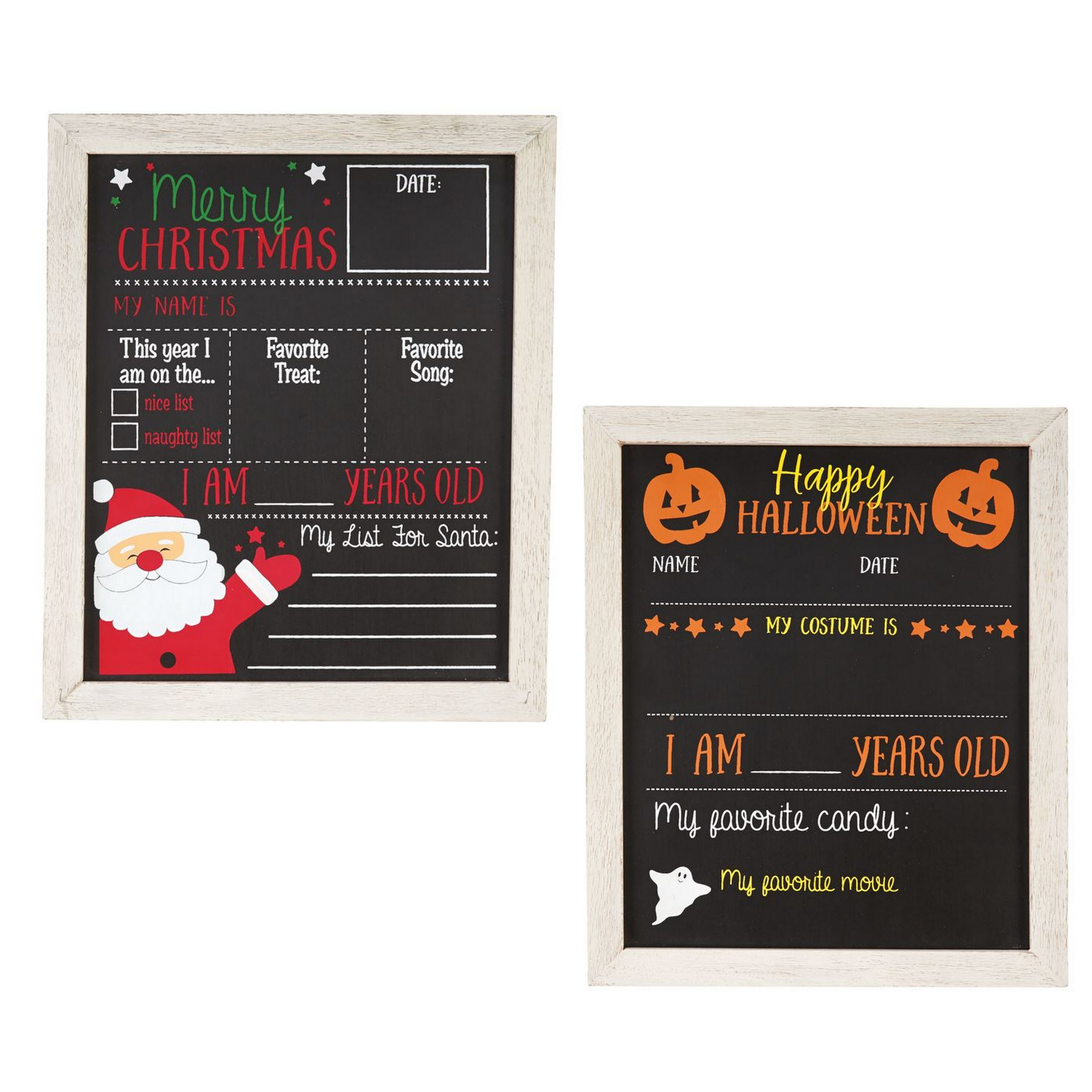 Mud Pie Reversible Holiday Chalkboard| Shop the Winter 2018 ...