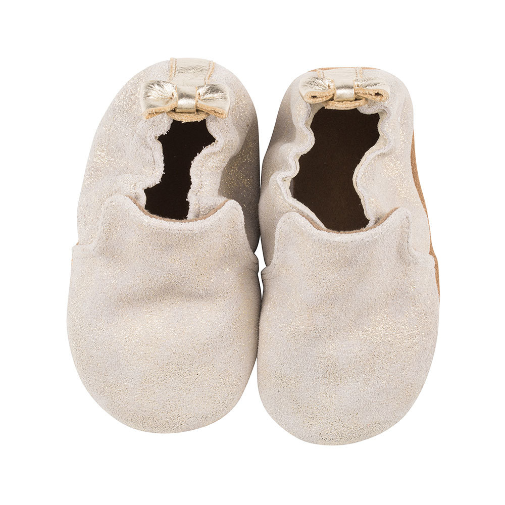 259aecaa25f Robeez Soft Sole Shoes in Pretty Pearl Gold
