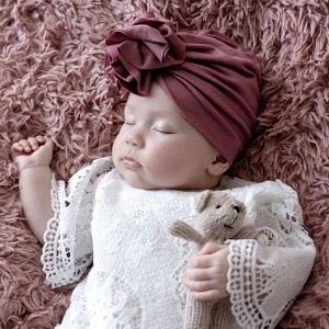 Ruffle Turban - Rose