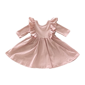 Ruffle Twirl Dress - Vintage Pink