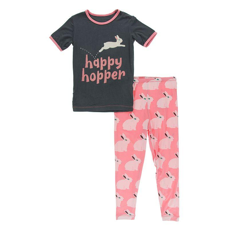 KicKee Pants Graphic Pajama Set - Strawberry Forest Rabbit