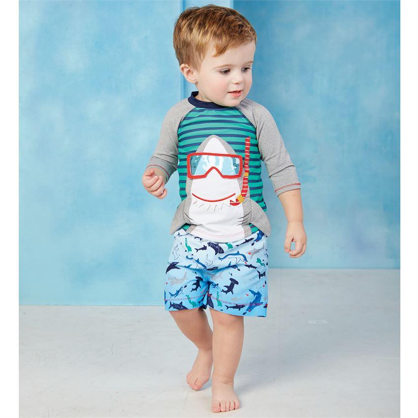 Mud Pie Baby Boys Fishing Swim Trunks