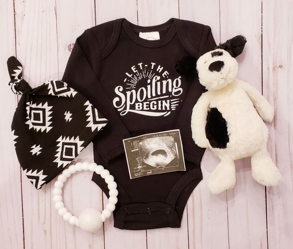 b4f0812eb Let the Spoiling Begin Onesie