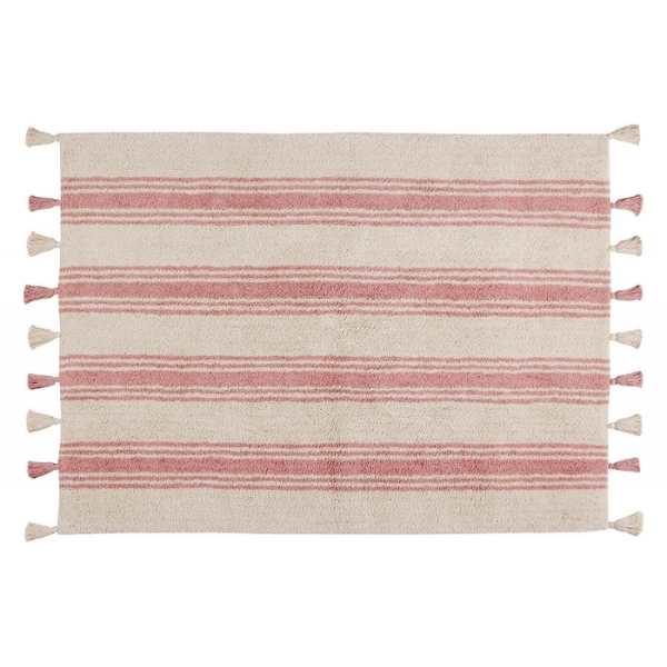 Lorena Canals Stripes Coral Pink