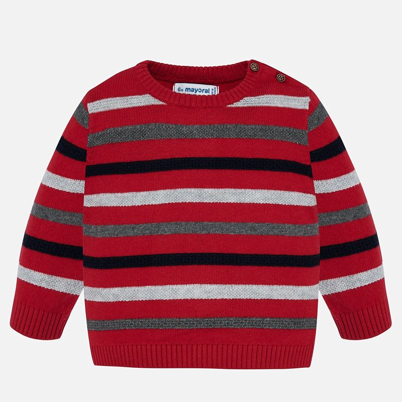 Striped Red Baby Boy Sweater