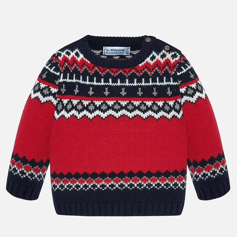 Red Baby Boy Sweater