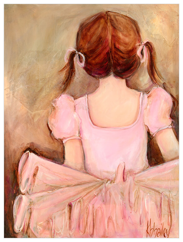 Sweet Ballerina Canvas Reproduction