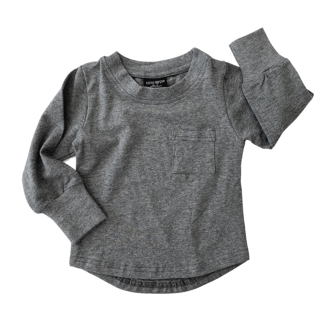 Long Sleeve Pocket - Charcoal