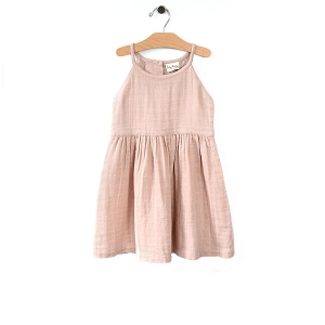 Soft Peach Lace Back Dress