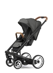 Mutsy Igo Urban Nomad - Black Chassis with Brown Handle & Dark Grey Seat
