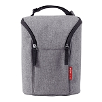 Skip Hop Double Bottle Bag - Heather Grey
