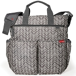 Duo Signature Diaper Bag - Grey Feather