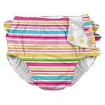 Iplay Ruffle Snap Swim Diaper - Multistripe