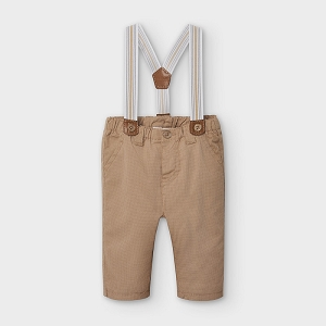 Baby Suspender Hazelnut Pants