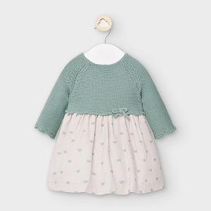 Tea Green Baby Girl Dress