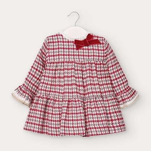 Red Houndstooth Dress Baby Girl