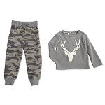 Mud Pie Camo Stag Two Piece Set