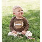 Mud Pie Football Two Piece Set
