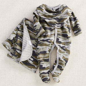 Mud Pie Camo Take Home Gift Set
