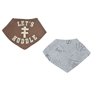 Mud Pie Football Bandana Bibs