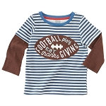Mud Pie Game Time Layered T-Shirt