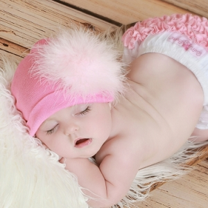 Candy Pink Hat with Pale Pink Regular Marabou