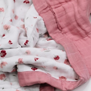 Saranoni Muslin Quilt - Pink Posies
