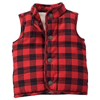 Mud Pie Buffalo Check Vest