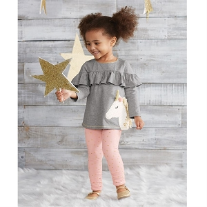 Mud Pie Unicorn Tunic Set