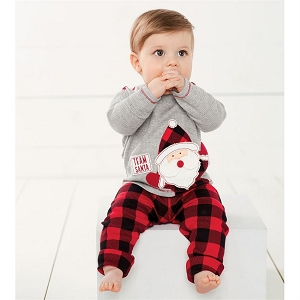 Mud Pie Team Santa Pant Set