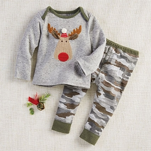 Mud Pie Camo Moose Pant Set