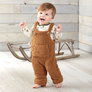 Mud Pie Forest Friends Overall Set