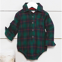 Mud Pie Blackwatch Plaid Crawler