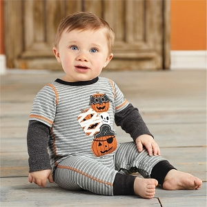 Mud Pie Stacked Pumpkin One Piece