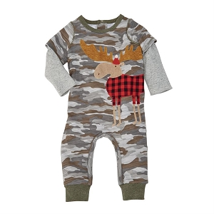 Mud Pie Camo Moose One Piece