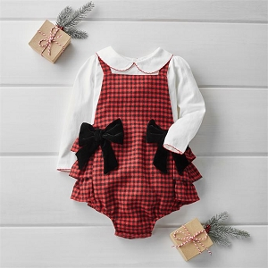 Buffalo Check Pinafore Set