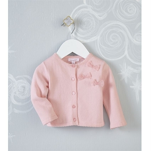 Mud Pie Pink Bow Cardigan