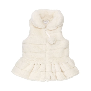 Mud Pie Ivory Fur Vest